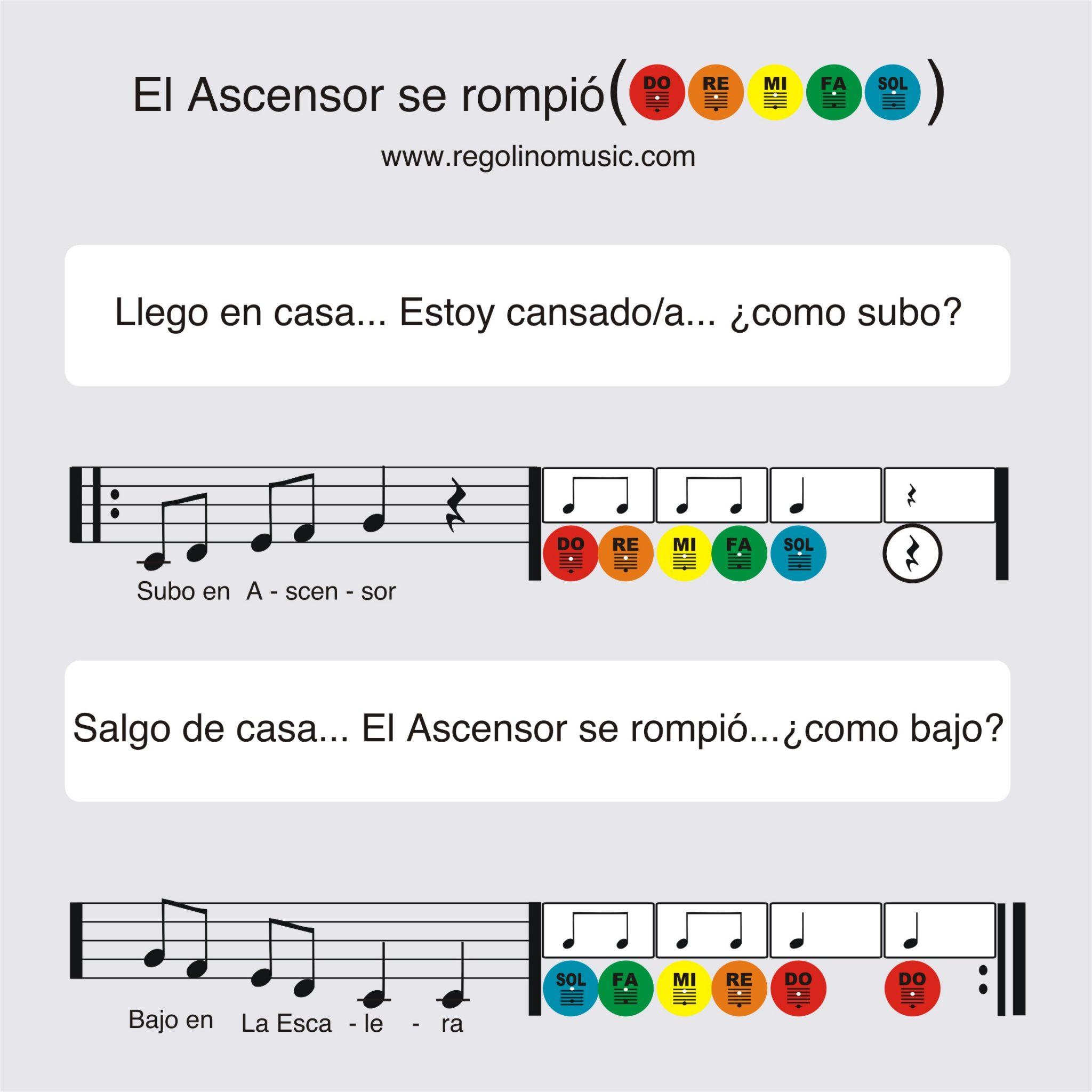 partitura musical para niños - subir y bajar