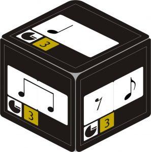 Dado con figuras musicales