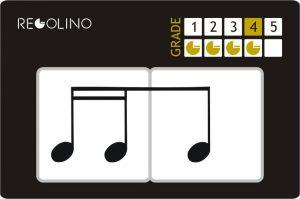 Figuras musicales - 2 semicorcheas y 1 corchea