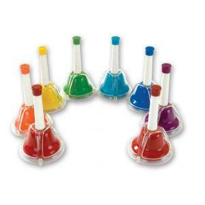 comprar instrumentos musicales para niños - campanas de colores arco iris